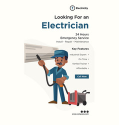 Banner design looking for an electrician vector
