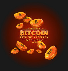 Bitcoin payment background vector