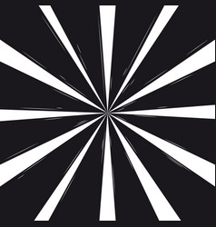 black and white rays background design vector image