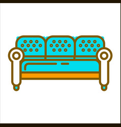 Blue big furniture vector