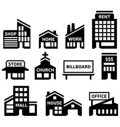 Building Symbols vector