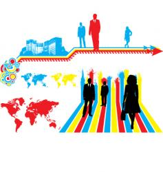 business colors vector image