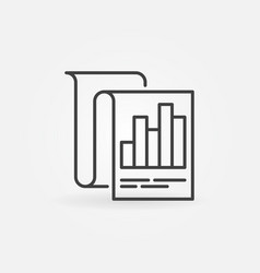 business report outline icon or symbol vector image