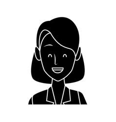 business woman cartoon vector image