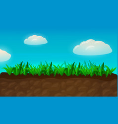 cartoon fresh grass vector image