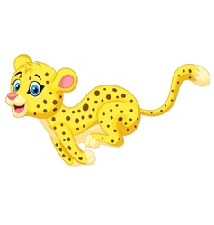 Cheetah cartoon running vector image