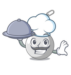Chef with food wrecking ball isolated on a mascot vector