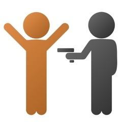 Children Crime Gradient Icon vector image