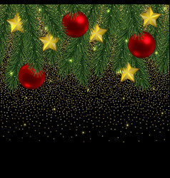 christmas and new year seamless border with vector image