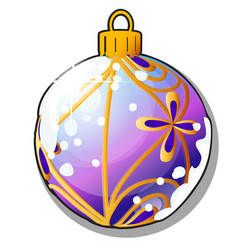 christmas tree decoration form ball isolated vector image