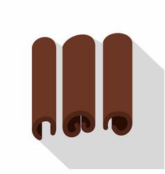 Cinnamon icon flat style vector