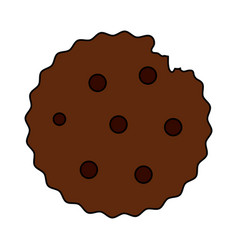 Color image cartoon cookie snack food vector