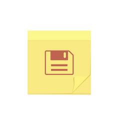 comment message note save task icon vector image