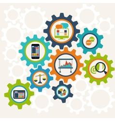 Concept interconnection business processes vector