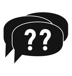 Confuse alzheimer question icon simple style vector