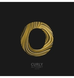 Curly textured Letter O vector