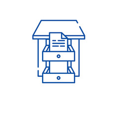 data archive line icon concept data archive flat vector image