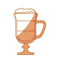 delicious cold coffee vector image