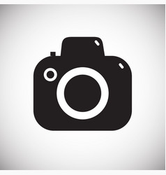 digital camera icon on white background for vector image