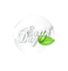 Earth Day background with the words dotted world vector image