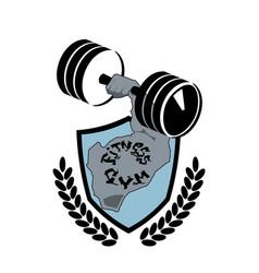 fitness center symbol modern sport club or gym vector image