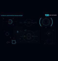 futuristic user interface design element set 05 vector image