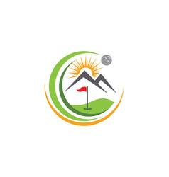 Golf logo template icon design vector
