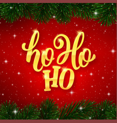 ho-ho-ho text on card for christmas holiday vector image