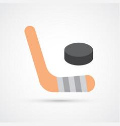 hockey colored sport icon vector image