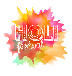 Holi festival concept indian holiday vector