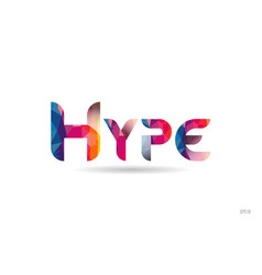 Hype colored rainbow word text suitable for logo vector