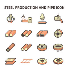 Icon steel pipe and beam product for vector