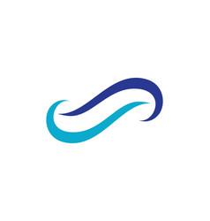 Infinity logo template vector