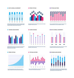 infographics marketing graphs financial histogram vector image