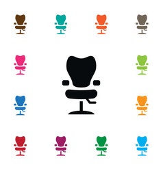 Isolated elbow chair icon salon element vector