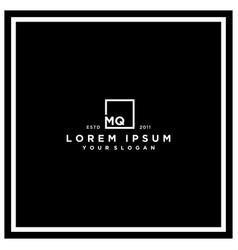 Letter mq square logo design vector