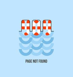 lifebuoy in water looks like 404 error creative vector image