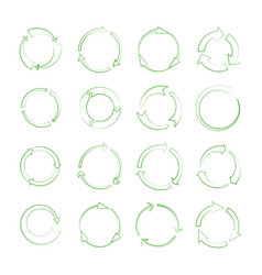 line recycle arrows signs isolated on white vector image