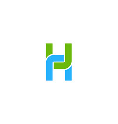 Link letter h logo icon design vector