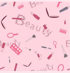 makeup cosmetics pattern for beauties vector image