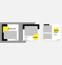Minimal minimalist square geometric banner vector