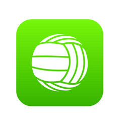 Modern volleyball icon green vector