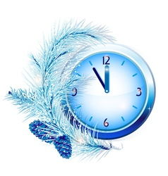 New Years clock vector