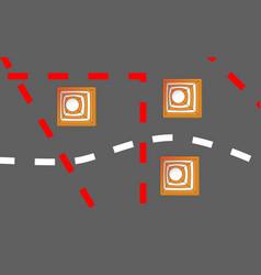 Orange white safety road cones or traffic cones vector