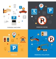 Parking Icons Set vector