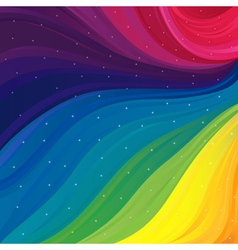 Pattern with spectrum colors and stars vector image