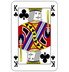Poker playing card King club vector image