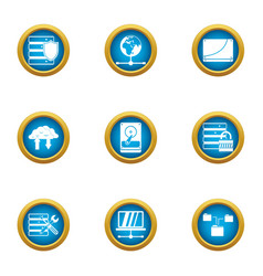 protection measure icons set flat style vector image