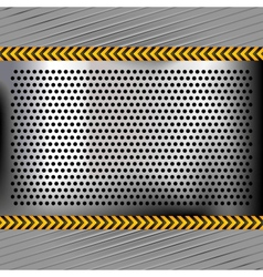 Punched metal chromium surface vector image