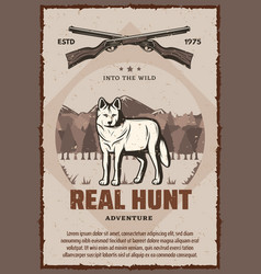 real hunt poster vector image
